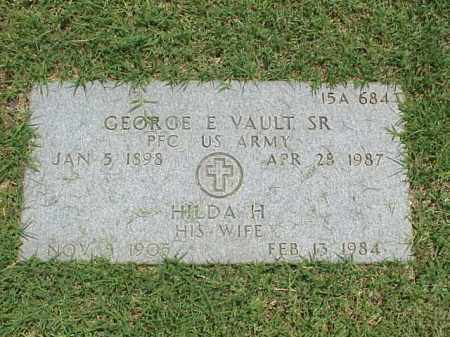 VAULT, SR (VETERAN WWII), GEORGE E - Pulaski County, Arkansas | GEORGE E VAULT, SR (VETERAN WWII) - Arkansas Gravestone Photos