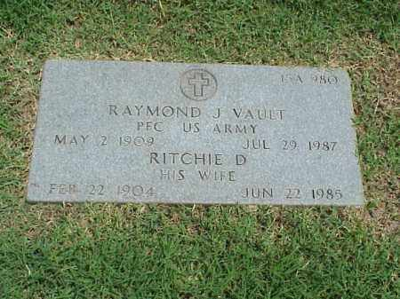 VAULT, RITCHIE D - Pulaski County, Arkansas | RITCHIE D VAULT - Arkansas Gravestone Photos