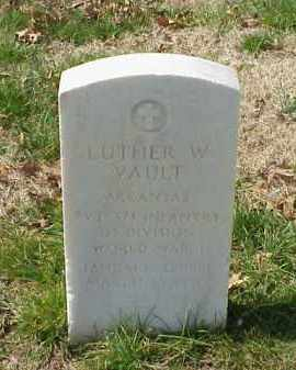 VAULT (VETERAN WWI), LUTHER W - Pulaski County, Arkansas | LUTHER W VAULT (VETERAN WWI) - Arkansas Gravestone Photos