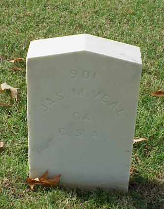 VEAL (VETERAN CSA), JAMES M - Pulaski County, Arkansas | JAMES M VEAL (VETERAN CSA) - Arkansas Gravestone Photos