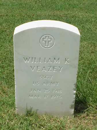 VEAZEY (VETERAN WWII), WILLIAM K - Pulaski County, Arkansas | WILLIAM K VEAZEY (VETERAN WWII) - Arkansas Gravestone Photos