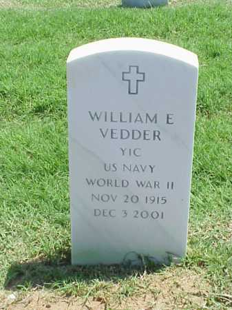 VEDDER (VETERAN WWII), WILLIAM E - Pulaski County, Arkansas | WILLIAM E VEDDER (VETERAN WWII) - Arkansas Gravestone Photos