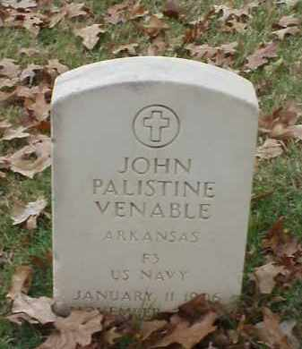 VENABLE (VETERAN), JOHN PALISTINE - Pulaski County, Arkansas | JOHN PALISTINE VENABLE (VETERAN) - Arkansas Gravestone Photos
