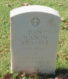 VENABLE (VETERAN WWII), DAN WILSON - Pulaski County, Arkansas | DAN WILSON VENABLE (VETERAN WWII) - Arkansas Gravestone Photos