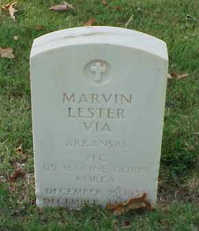 VIA (VETERAN KOR), MARVIN LESTER - Pulaski County, Arkansas | MARVIN LESTER VIA (VETERAN KOR) - Arkansas Gravestone Photos