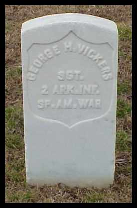 VICKERS (VETERAN SAW), GEORGE H - Pulaski County, Arkansas | GEORGE H VICKERS (VETERAN SAW) - Arkansas Gravestone Photos