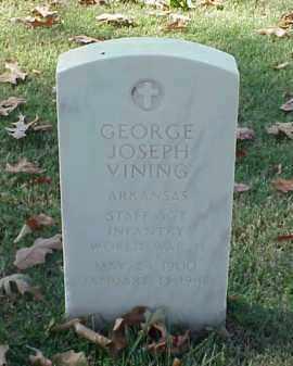 VINING (VETERAN WWII), GEORGE JOSEPH - Pulaski County, Arkansas | GEORGE JOSEPH VINING (VETERAN WWII) - Arkansas Gravestone Photos