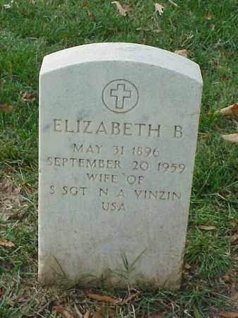 VINZIN, ELIZABETH B. - Pulaski County, Arkansas | ELIZABETH B. VINZIN - Arkansas Gravestone Photos