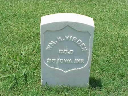 VIRDEN (VETERAN UNION), WILLIAM H - Pulaski County, Arkansas   WILLIAM H VIRDEN (VETERAN UNION) - Arkansas Gravestone Photos