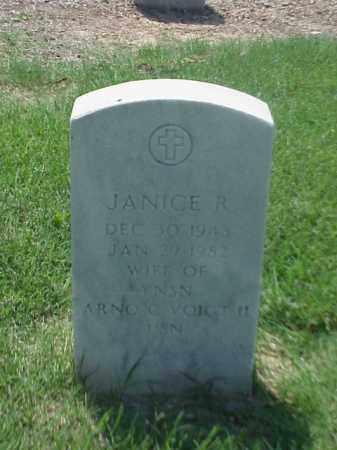 VOIGT, JANICE R - Pulaski County, Arkansas | JANICE R VOIGT - Arkansas Gravestone Photos