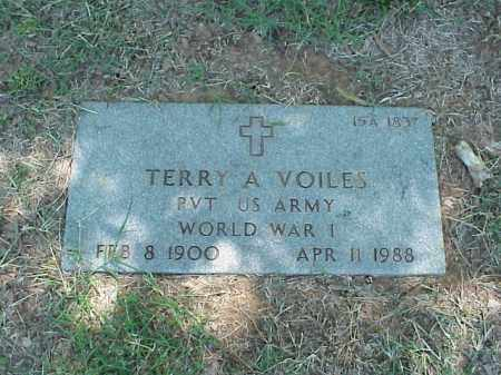 VOILES (VETERAN WWI), TERRY A - Pulaski County, Arkansas | TERRY A VOILES (VETERAN WWI) - Arkansas Gravestone Photos
