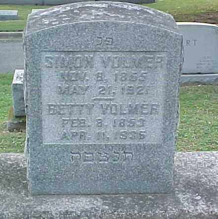 VOLMER, SIMON - Pulaski County, Arkansas | SIMON VOLMER - Arkansas Gravestone Photos