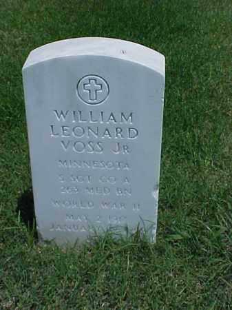 VOSS, JR (VETERAN WWII), WILLIAM LEONARD - Pulaski County, Arkansas | WILLIAM LEONARD VOSS, JR (VETERAN WWII) - Arkansas Gravestone Photos
