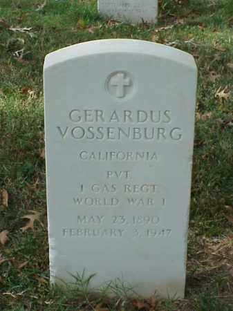 VOSSENBURG (VETERAN WWI), GERARDUS - Pulaski County, Arkansas | GERARDUS VOSSENBURG (VETERAN WWI) - Arkansas Gravestone Photos