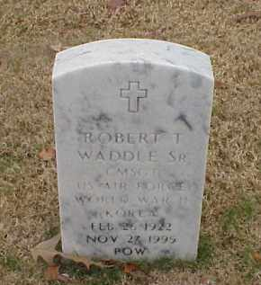 WADDLE, SR (VETERAN 2 WARS), ROBERT T - Pulaski County, Arkansas | ROBERT T WADDLE, SR (VETERAN 2 WARS) - Arkansas Gravestone Photos