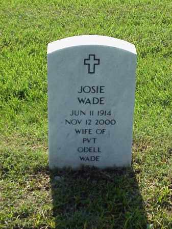 WADE, JOSIE - Pulaski County, Arkansas | JOSIE WADE - Arkansas Gravestone Photos