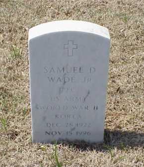 WADE, JR (VETERAN 2 WARS), SAMUEL D - Pulaski County, Arkansas | SAMUEL D WADE, JR (VETERAN 2 WARS) - Arkansas Gravestone Photos