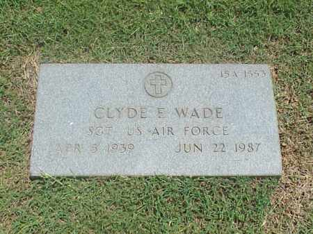 WADE (VETERAN), CLYDE E - Pulaski County, Arkansas | CLYDE E WADE (VETERAN) - Arkansas Gravestone Photos