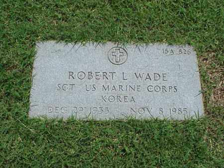 WADE (VETERAN KOR), ROBERT L - Pulaski County, Arkansas | ROBERT L WADE (VETERAN KOR) - Arkansas Gravestone Photos
