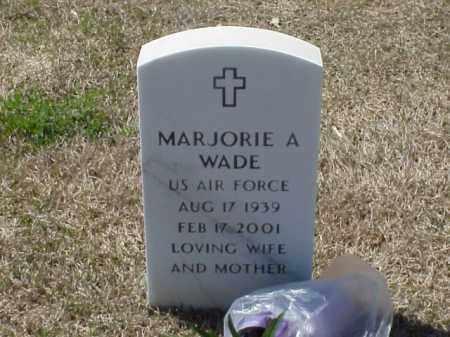 WADE (VETERAN), MARJORIE A - Pulaski County, Arkansas | MARJORIE A WADE (VETERAN) - Arkansas Gravestone Photos