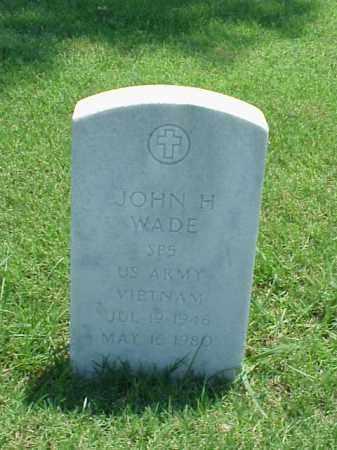 WADE (VETERAN VIET), JOHN H - Pulaski County, Arkansas | JOHN H WADE (VETERAN VIET) - Arkansas Gravestone Photos