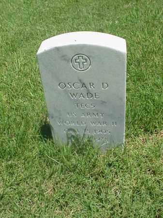 WADE (VETERAN WWII), OSCAR D - Pulaski County, Arkansas | OSCAR D WADE (VETERAN WWII) - Arkansas Gravestone Photos