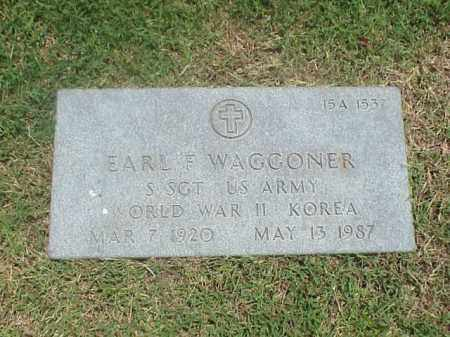 WAGGONER (VETERAN 2 WARS), EARL F - Pulaski County, Arkansas | EARL F WAGGONER (VETERAN 2 WARS) - Arkansas Gravestone Photos