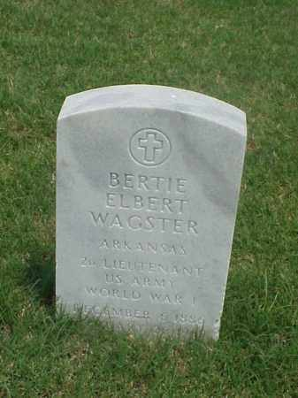 WAGSTER (VETERAN WWI), BERTIE ELBERT - Pulaski County, Arkansas | BERTIE ELBERT WAGSTER (VETERAN WWI) - Arkansas Gravestone Photos