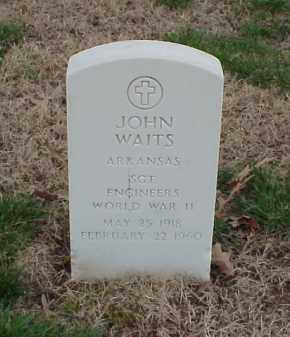 WAITS  (VETERAN WWII), JOHN - Pulaski County, Arkansas | JOHN WAITS  (VETERAN WWII) - Arkansas Gravestone Photos