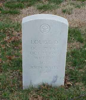 WAITS, LOUISE D - Pulaski County, Arkansas | LOUISE D WAITS - Arkansas Gravestone Photos