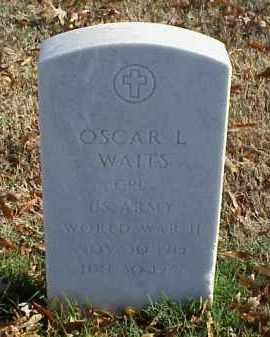 WAITS (VETERAN WWII), OSCAR L - Pulaski County, Arkansas | OSCAR L WAITS (VETERAN WWII) - Arkansas Gravestone Photos