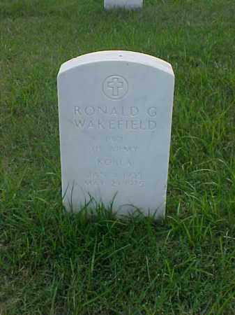 WAKEFIELD (VETERAN KOR), RONALD G - Pulaski County, Arkansas | RONALD G WAKEFIELD (VETERAN KOR) - Arkansas Gravestone Photos
