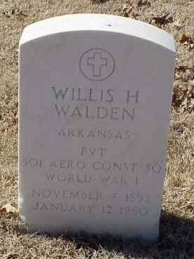 WALDEN  (VETERAN WWI), WILLIS H - Pulaski County, Arkansas | WILLIS H WALDEN  (VETERAN WWI) - Arkansas Gravestone Photos