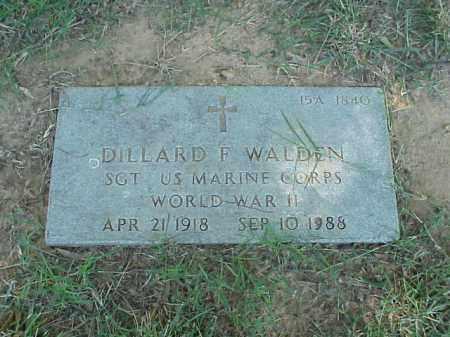 WALDEN (VETERAN WWII), DILLARD F - Pulaski County, Arkansas | DILLARD F WALDEN (VETERAN WWII) - Arkansas Gravestone Photos