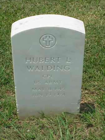 WALDING (VETERAN WWII), HUBERT L - Pulaski County, Arkansas | HUBERT L WALDING (VETERAN WWII) - Arkansas Gravestone Photos