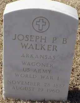WALKER  (VETERAN WWI), JOSEPH P B - Pulaski County, Arkansas | JOSEPH P B WALKER  (VETERAN WWI) - Arkansas Gravestone Photos