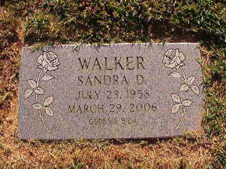 WALKER, SANDRA D - Pulaski County, Arkansas | SANDRA D WALKER - Arkansas Gravestone Photos