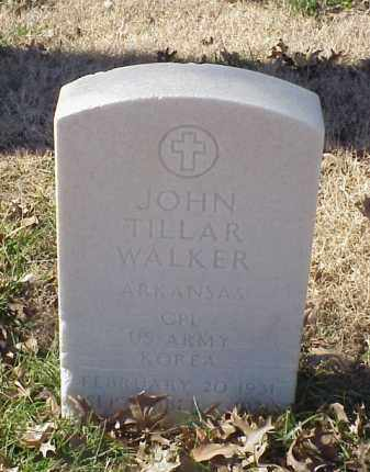 WALKER (VETERAN KOR), JOHN TILLAR - Pulaski County, Arkansas | JOHN TILLAR WALKER (VETERAN KOR) - Arkansas Gravestone Photos