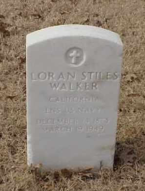 WALKER (VETERAN SAW), LORAN STILES - Pulaski County, Arkansas | LORAN STILES WALKER (VETERAN SAW) - Arkansas Gravestone Photos