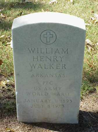 WALKER (VETERAN WWI), WILLIAM HENRY - Pulaski County, Arkansas | WILLIAM HENRY WALKER (VETERAN WWI) - Arkansas Gravestone Photos