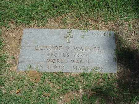 WALKER (VETERAN WWII), CLAUDE B - Pulaski County, Arkansas | CLAUDE B WALKER (VETERAN WWII) - Arkansas Gravestone Photos