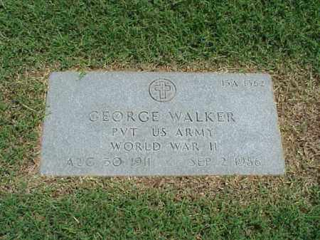 WALKER (VETERAN WWII), GEORGE - Pulaski County, Arkansas | GEORGE WALKER (VETERAN WWII) - Arkansas Gravestone Photos