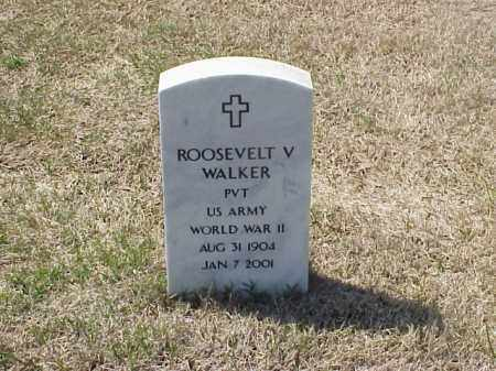 WALKER (VETERAN WWII), ROOSEVELT V - Pulaski County, Arkansas | ROOSEVELT V WALKER (VETERAN WWII) - Arkansas Gravestone Photos
