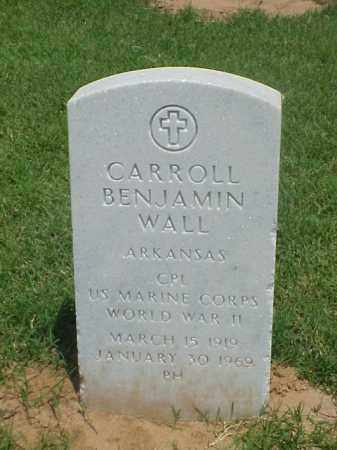 WALL (VETERAN WWII), CARROLL BENJAMIN - Pulaski County, Arkansas | CARROLL BENJAMIN WALL (VETERAN WWII) - Arkansas Gravestone Photos