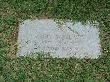WALLACE (VETERAN WWII), ANDY - Pulaski County, Arkansas | ANDY WALLACE (VETERAN WWII) - Arkansas Gravestone Photos