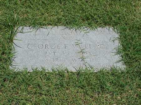 WALLACE (VETERAN WWII), GEORGE F - Pulaski County, Arkansas | GEORGE F WALLACE (VETERAN WWII) - Arkansas Gravestone Photos