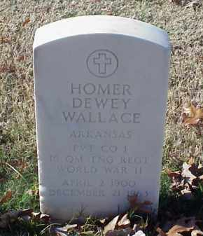 WALLACE (VETERAN WWII), HOMER DEWEY - Pulaski County, Arkansas | HOMER DEWEY WALLACE (VETERAN WWII) - Arkansas Gravestone Photos