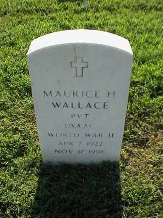 WALLACE (VETERAN WWII), MAURICE H - Pulaski County, Arkansas | MAURICE H WALLACE (VETERAN WWII) - Arkansas Gravestone Photos