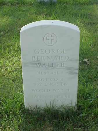 WALLER (VETERAN WWII), GEORGE BERNARD - Pulaski County, Arkansas | GEORGE BERNARD WALLER (VETERAN WWII) - Arkansas Gravestone Photos
