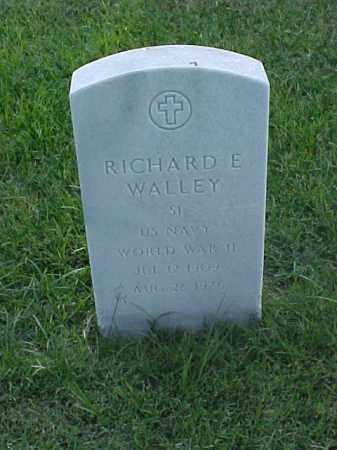 WALLEY (VETERAN WWII), RICHARD E - Pulaski County, Arkansas | RICHARD E WALLEY (VETERAN WWII) - Arkansas Gravestone Photos